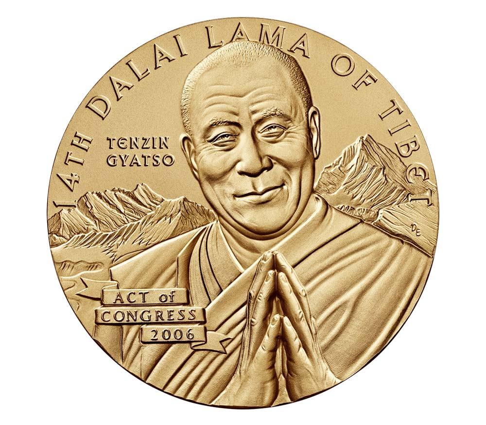 Dalai Lama Gold Medal Christmas or                             Holiday Gift